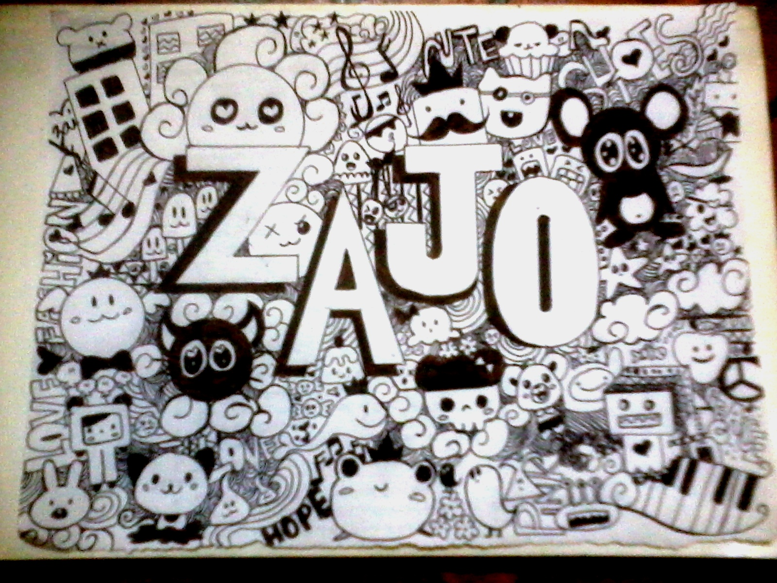Zajo blogs doodling for How to doodle names