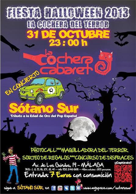 Fiesta Halloween La Cochera Cabaret, Málaga