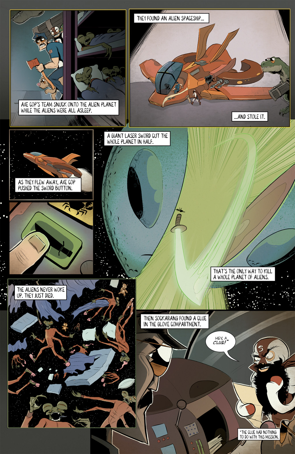 Read online Axe Cop: Bad Guy Earth comic -  Issue #2 - 8