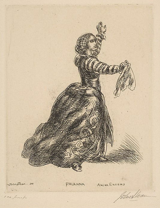 1930 Pavanna etching