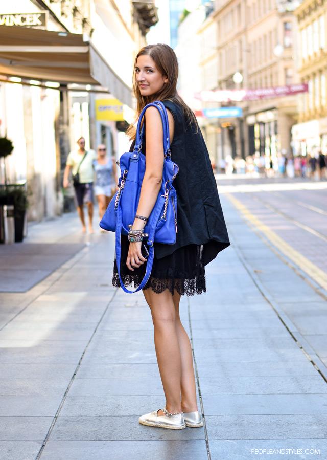 Stajling inspiracija: casual outfit s malom crnom haljinom, Mia Tošić