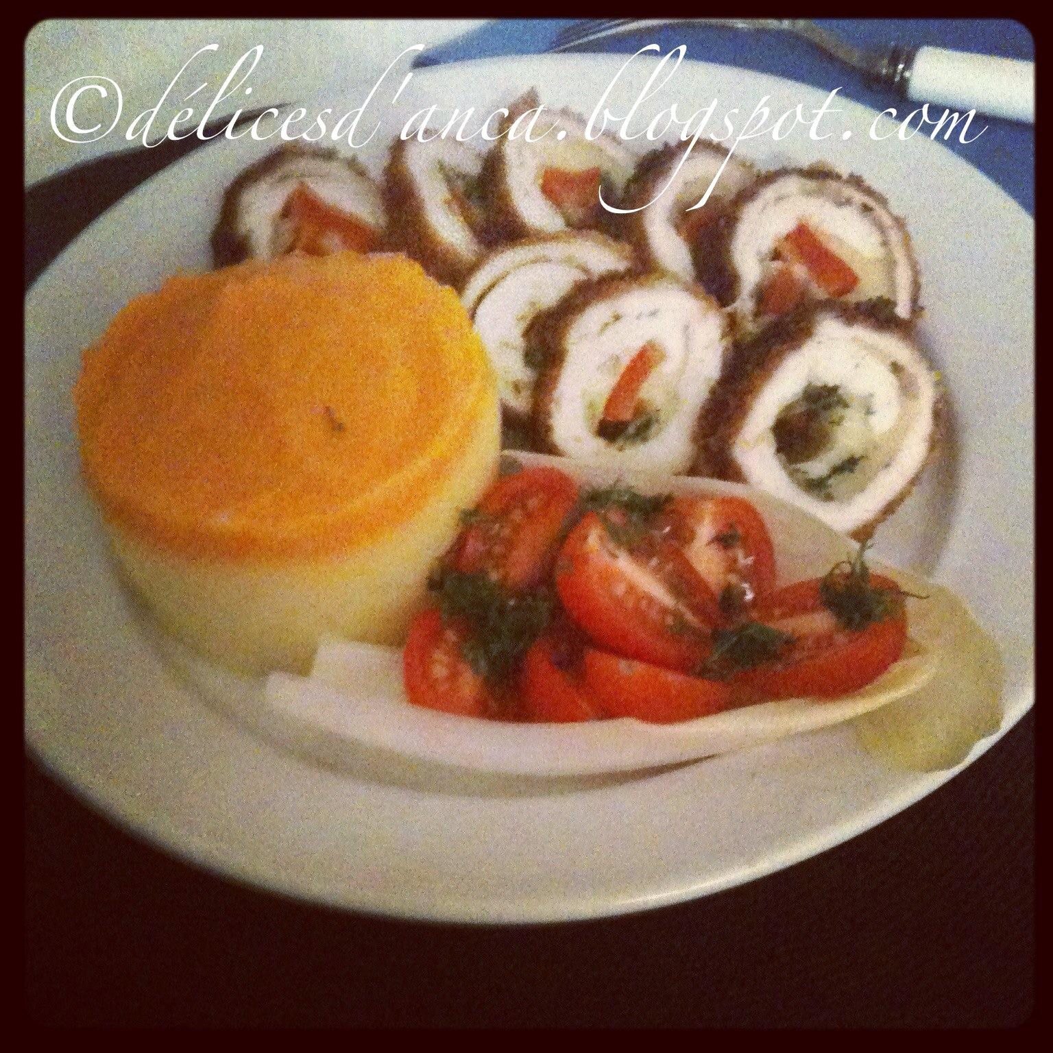 Cordon bleu fait maison avec pur e de pomme de terre et - Puree de carotte maison ...