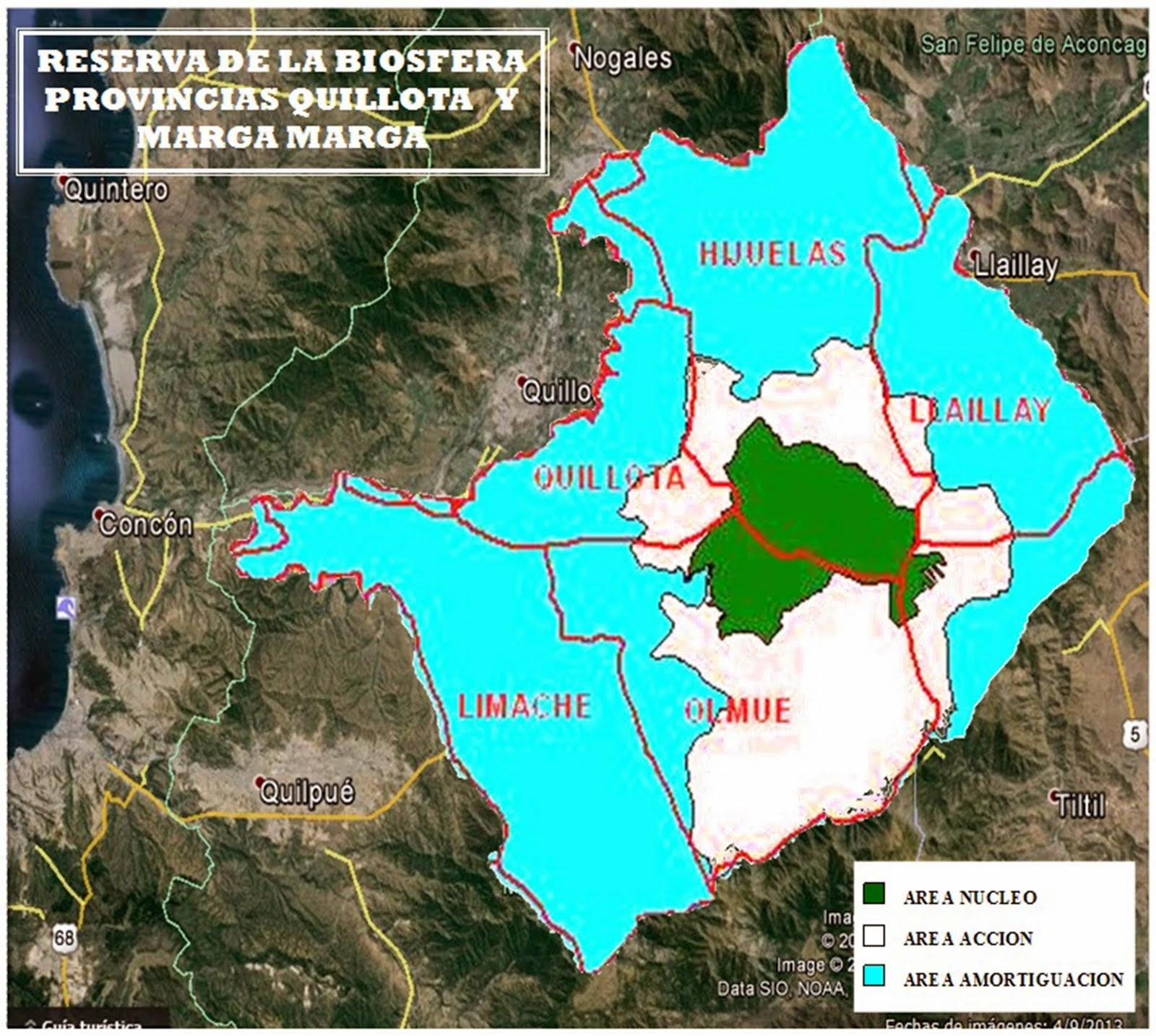 Mapa de la Reserva