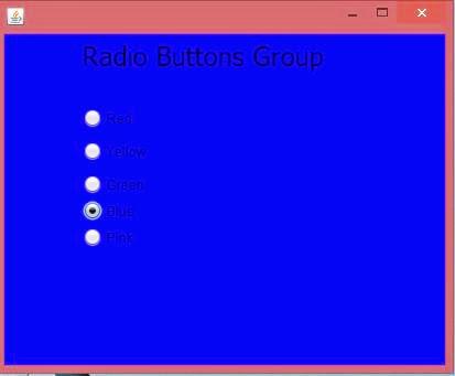 Radio Button Action listener in Netbeans