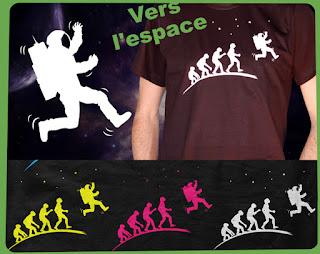 évolution vers l'espace cosmos futur anticipation tee-shirt t-shirt sf  flex www.rueduteeshirt.com