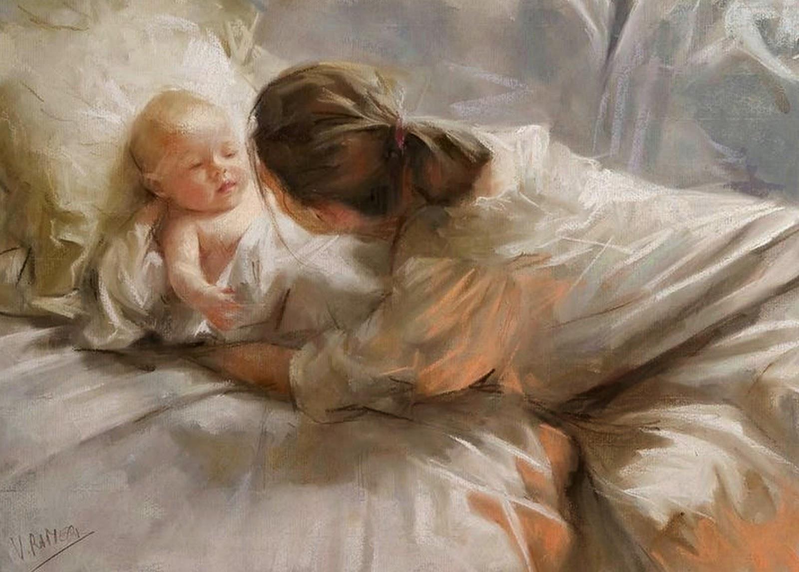 pintura-al-oleo-de-bebe