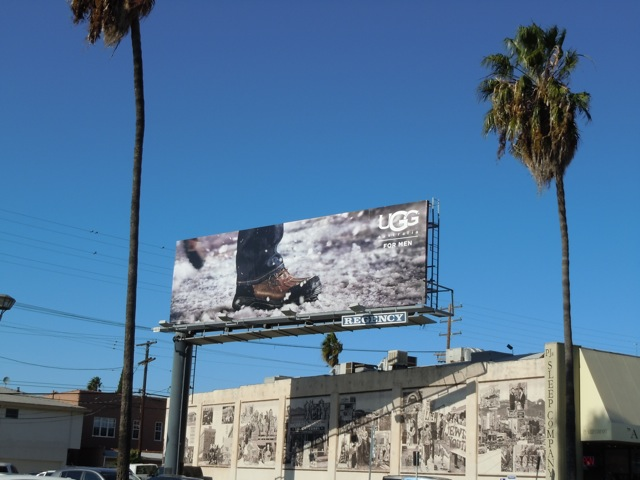 UGG Men snow boot billboard