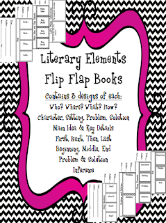 http://www.teacherspayteachers.com/Product/Literary-Elements-Flip-Flap-Book-Pack-1000437