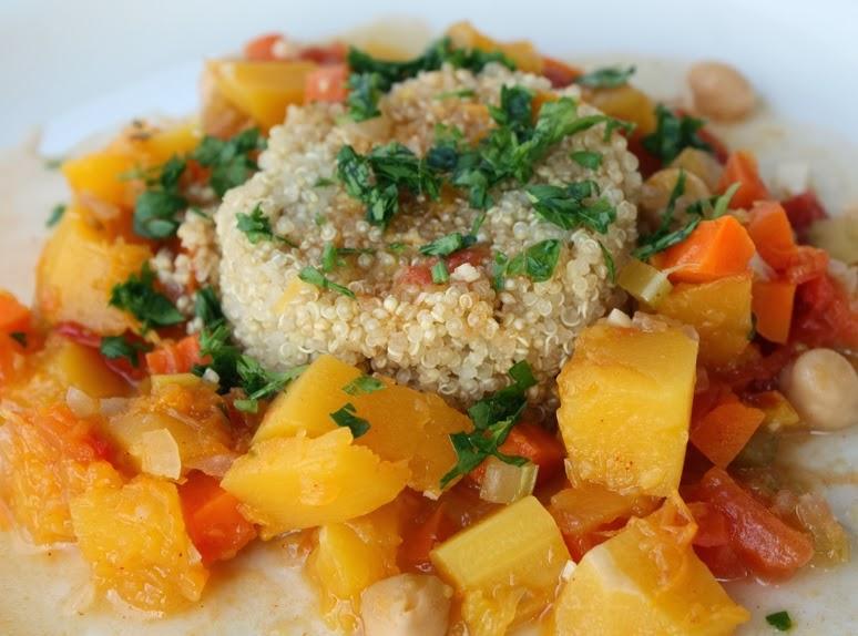 Cozido Marroquino de Abóbora com Quinoa (vegana)