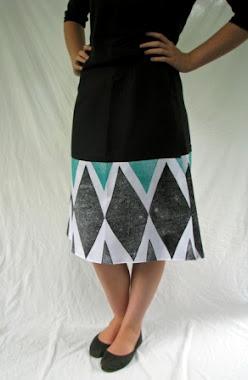wrap skirt - harlequin