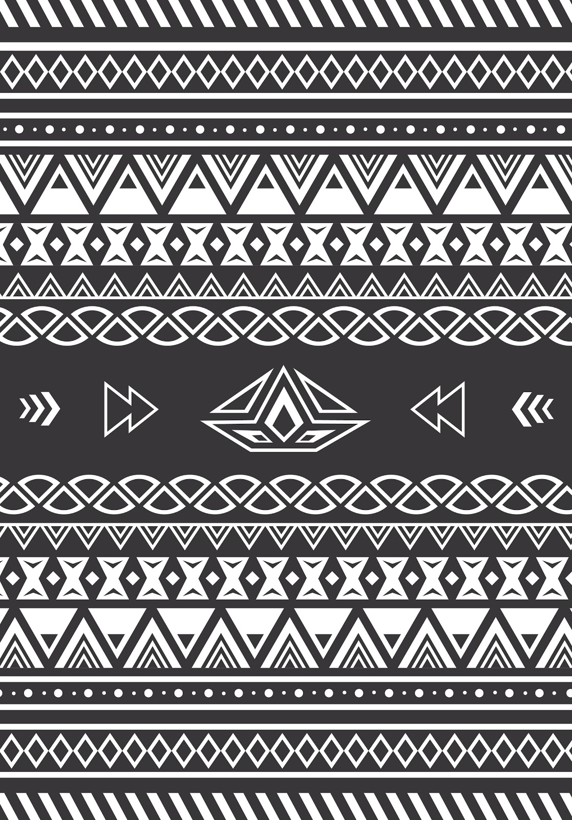 Seamless Black and White Aztec Digital Paper. Scrapbook Backgrounds. Aztec patterns, tribal backgrounds, native, grey. Commercial Use, Download Aztec Digital Paper.