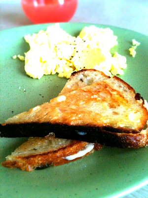 Truffle and Havarti Breakfast Grilled Cheese