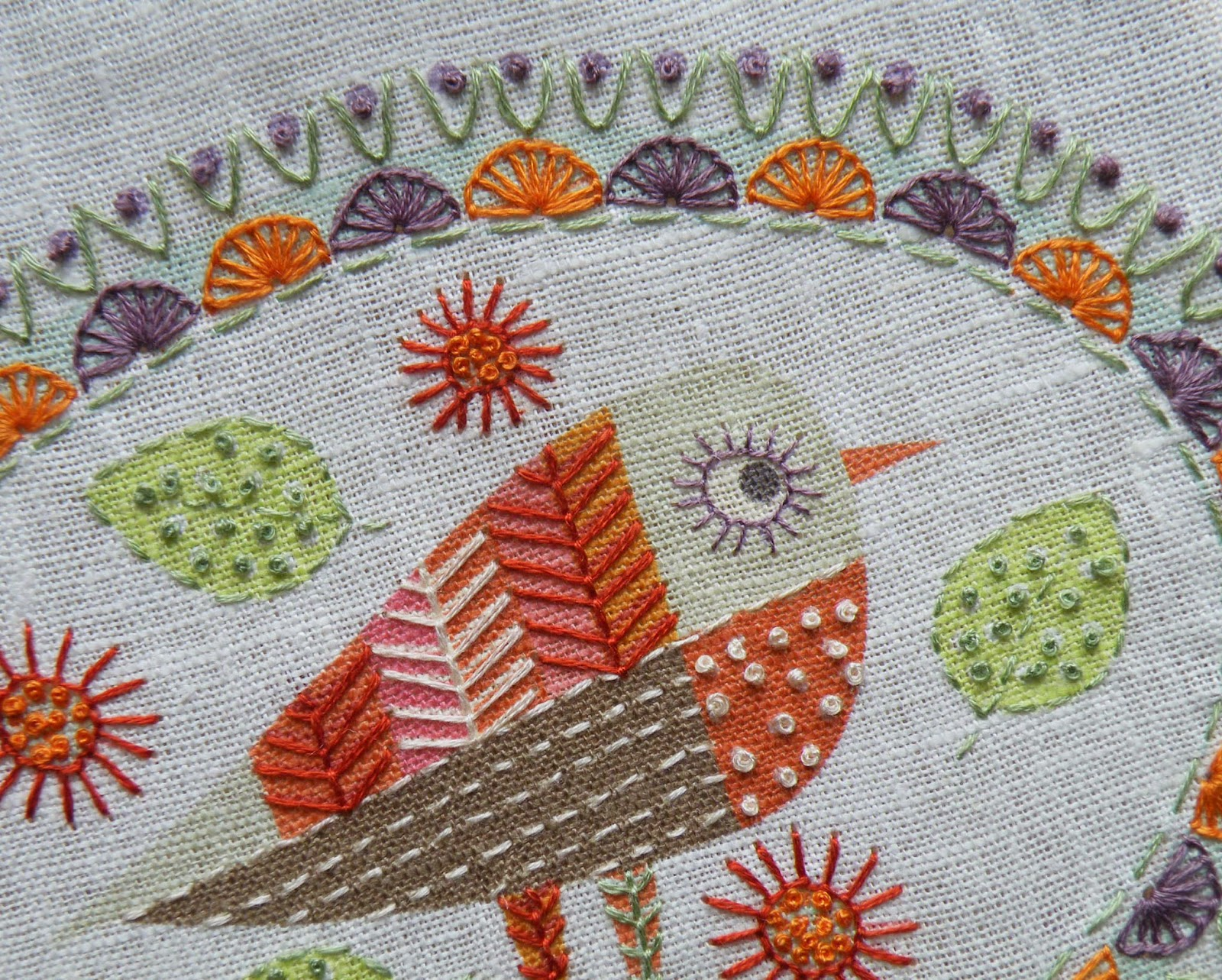 Birdie 3 Embroidery kit Detail