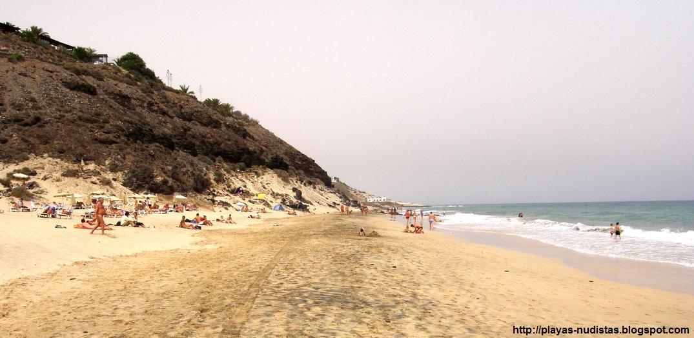 Playa nudista Esquinzo (Jandía, Fuerteventura, Canarias)