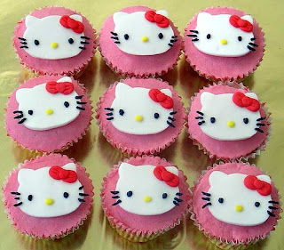 Hello Kitty cute cupcake