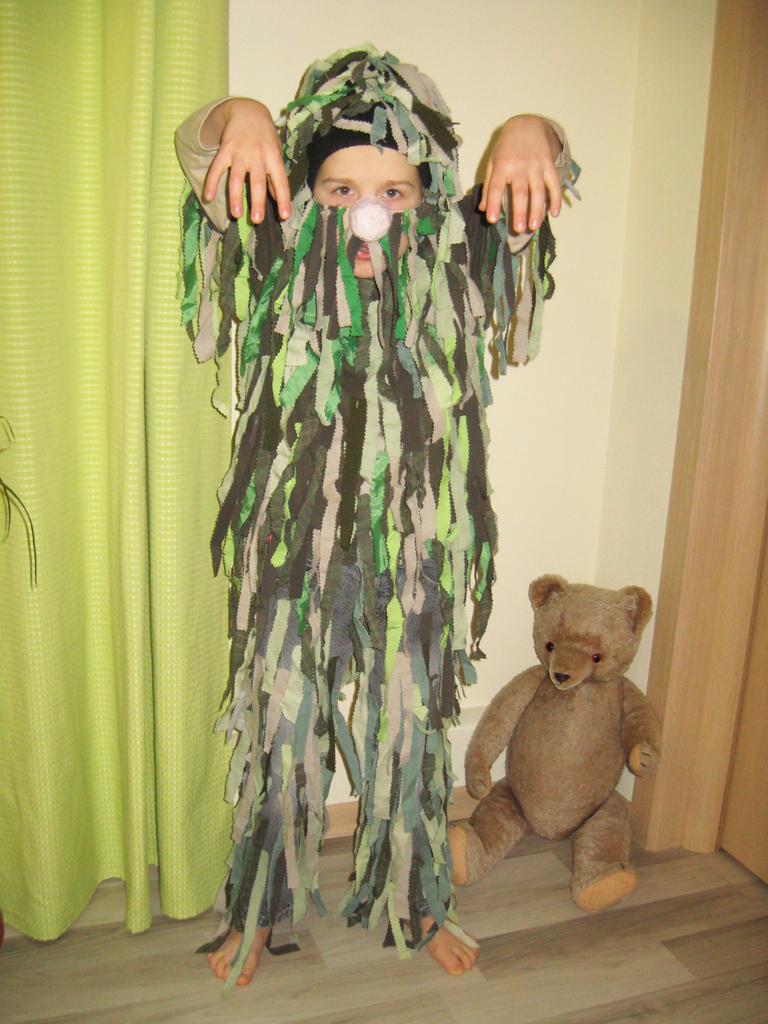 Как сделать костюм лешего из мешковины