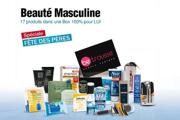 Jeu concours Be Trousse: 5 lots de 17 produits dans une box 100% pour lui