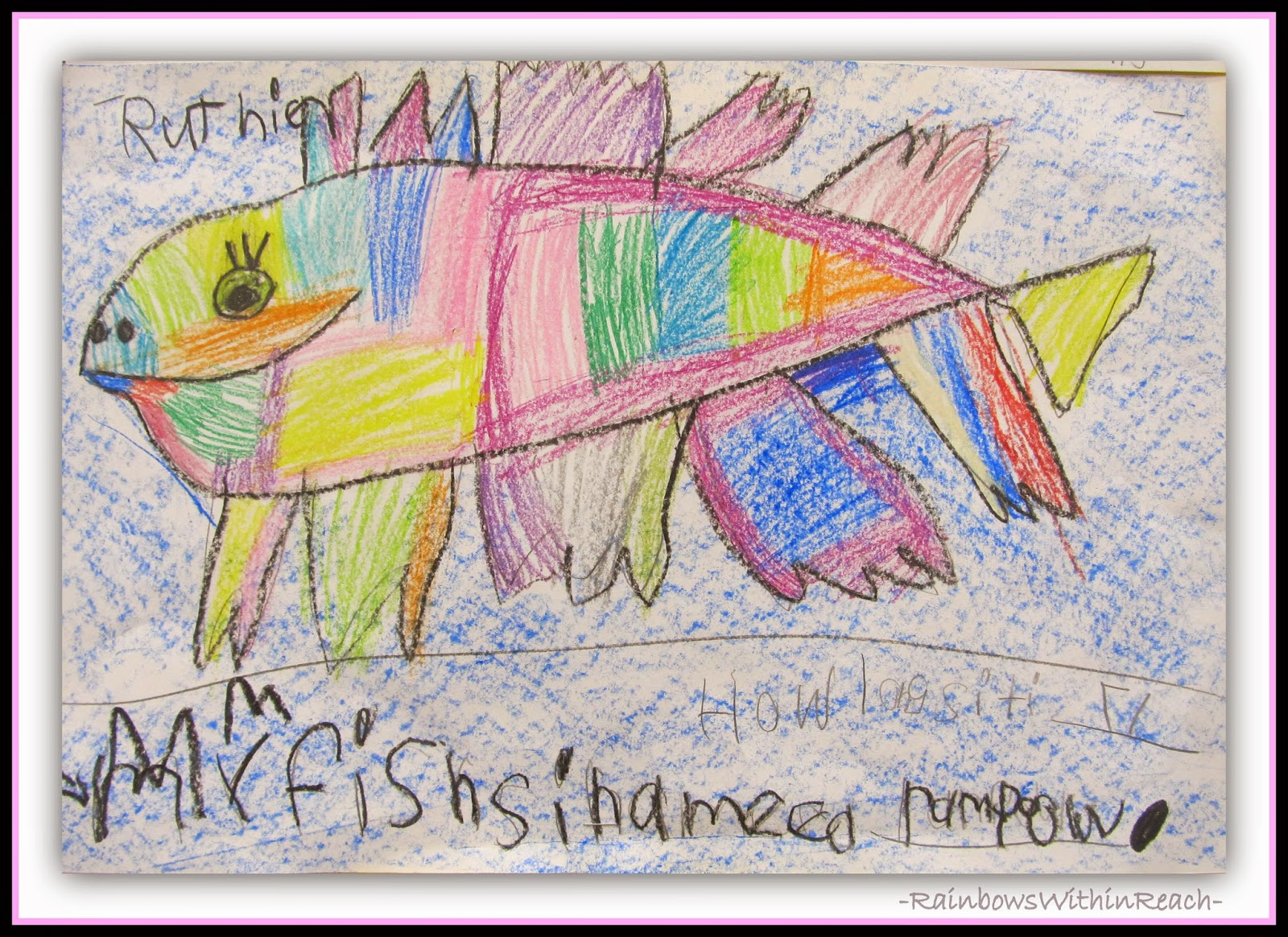 Student Ocean Fish Drawings {Ocean RoundUP of Inspiration at RainbowsWithinReach}