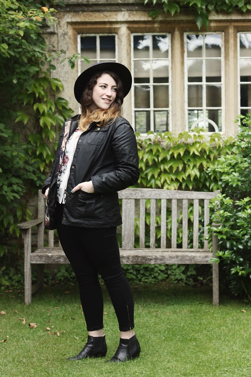 barbour jacket fashion blogger outfit