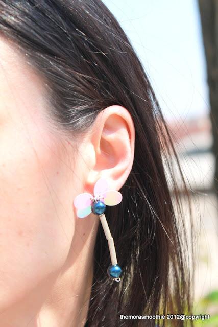 orecchini a farfalla