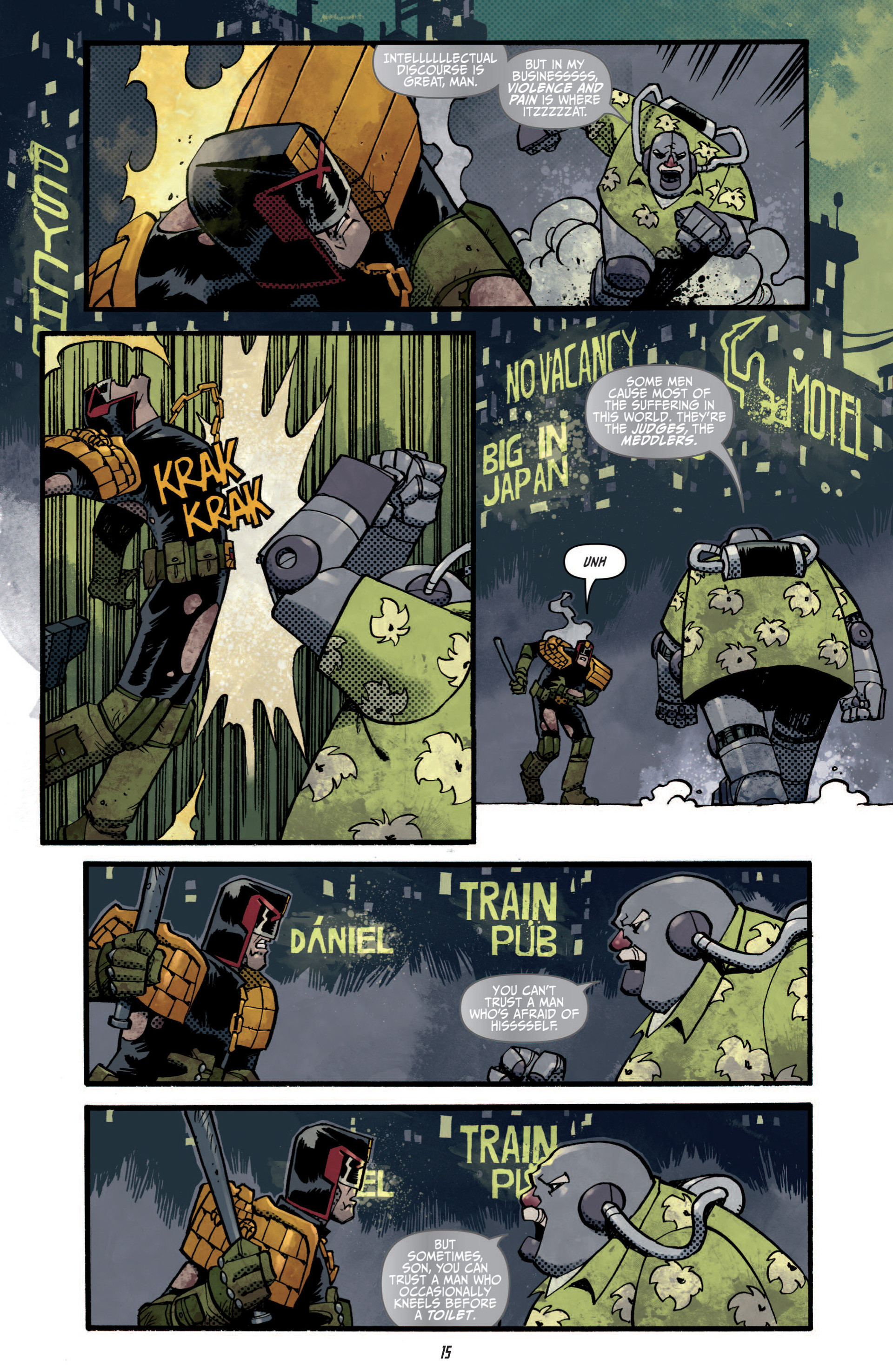 Read online Judge Dredd (2012) comic -  Issue #5 - 17
