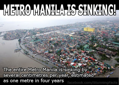 METRO MANILA SINKING AT A FAST PACE