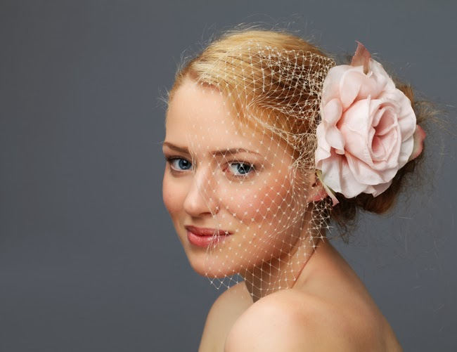 fascinator, bride's wear, bird cage veil fascinator, hair accessory