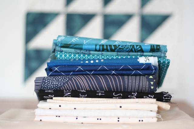 fabric pull for ocean waves quilt by wooden spoon quilts