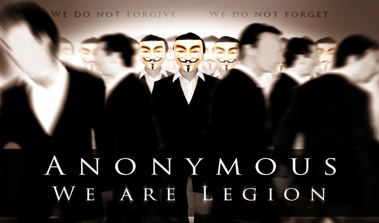 Anonymous changes mask- From Villain to Hero