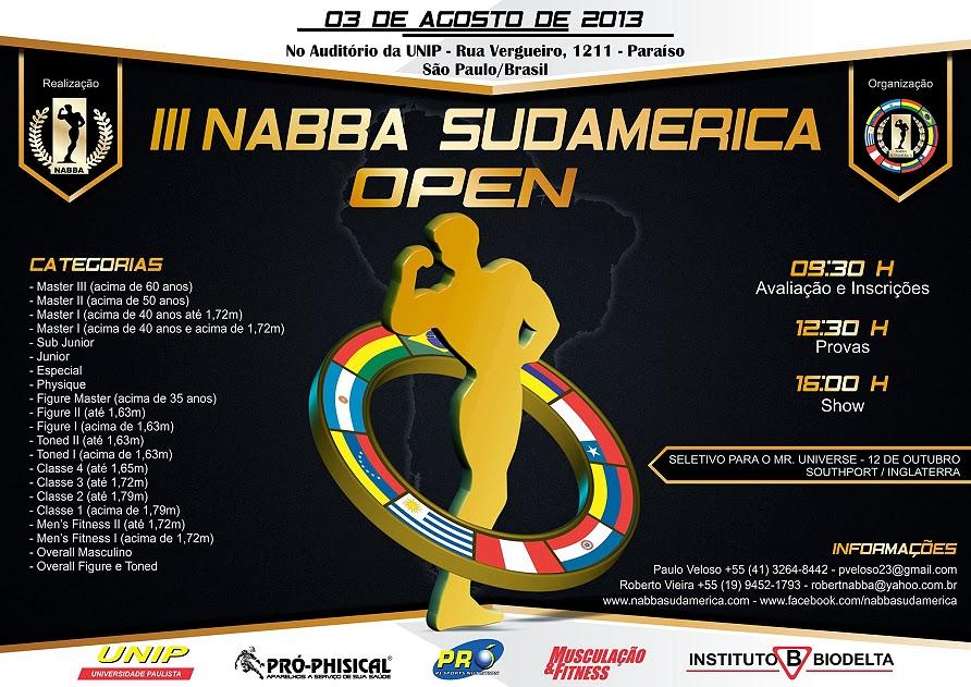 III NABBA Sudamerica Open. Foto: Divulgação