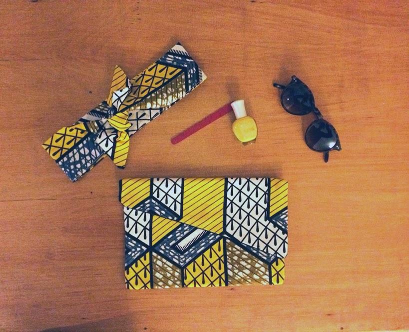 Headband et pochette en Wax - Cagecréations