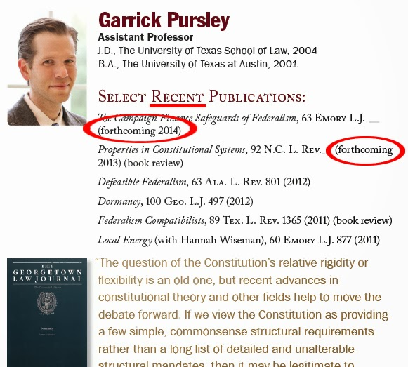 Florida State College of Law - Garrick Pursley - Select Recent Publications