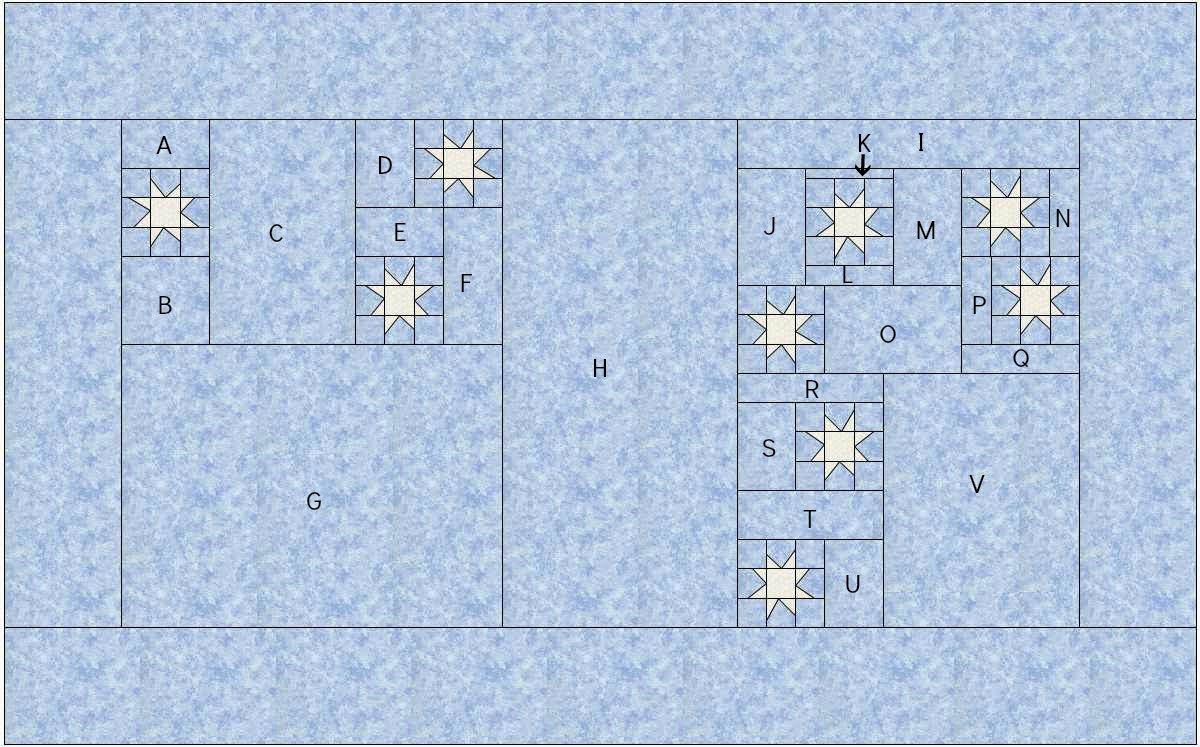 Layout Diagram for Constellation Quilt Along @ Quilting Mod