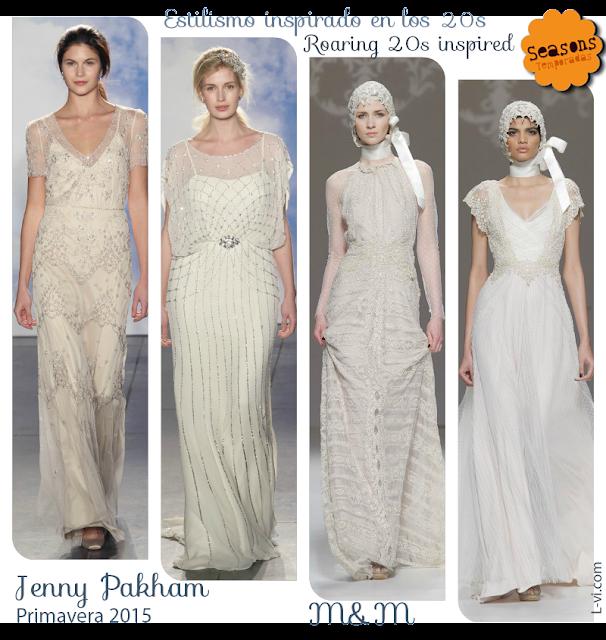 [SS15] Bridal dresses:The roaring 20s inspired./ Vestidos de novia inspirados en los años 20. L-vi.com