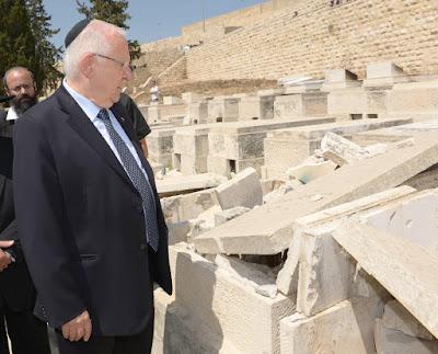 Presidente de Israel critica vandalismo no cemitério no Monte das Oliveiras