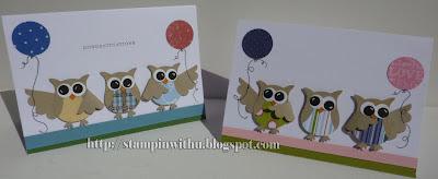 Birthday Punch Art Owls