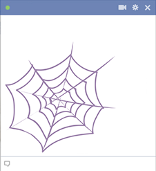 Spider web for Facebook
