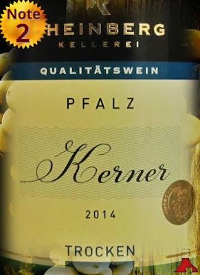 Rheinberg Kellerei Kerner Pfalz 2014