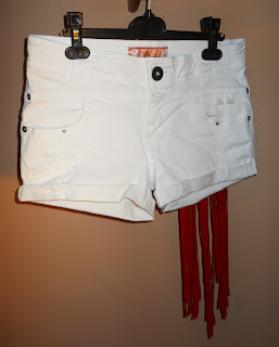 shorts with fringe DIY