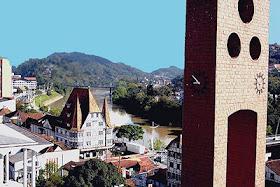 Vista de Blumenau, minha cidade
