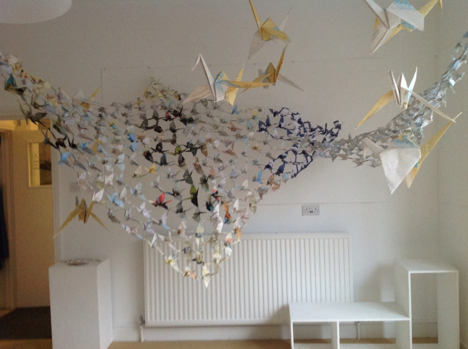 The Paper Cranes Continue Their Journey Around Somerset At Kings College Taunton In January See Right And February They Are Off To Bruton School For