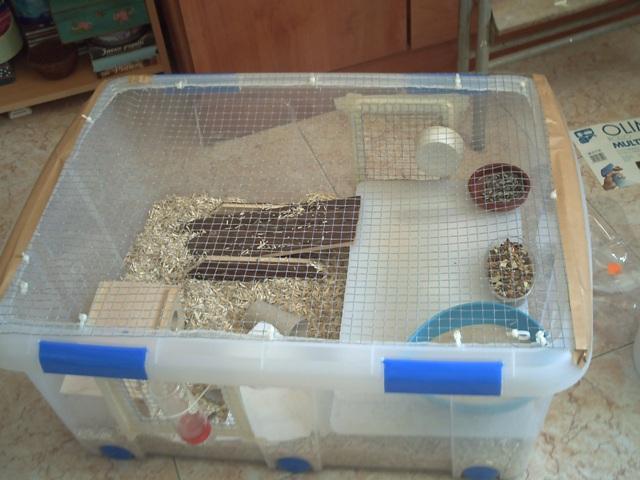 J j jaulas y componentes necesarios para la jaula de for Casas de plastico para ninos segunda mano