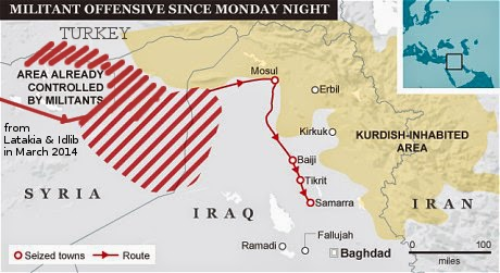 REAL Map of ISIS TerrorWave Syria: Elections Are a Battle Won, But the War Goes On