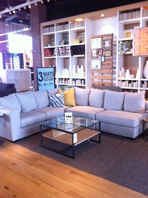 New Sofa From West Elm...(Via Made By Girl)