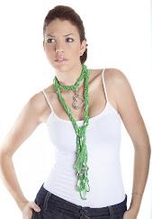 Collar mostacillas Verdes
