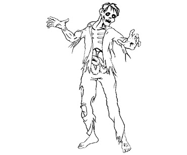 #8 Zombie Coloring Page