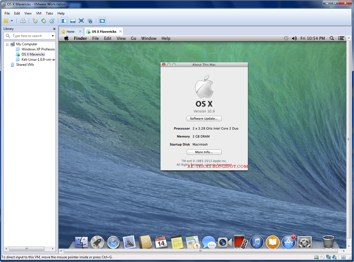 free download os x mavericks 109 retail vmware image