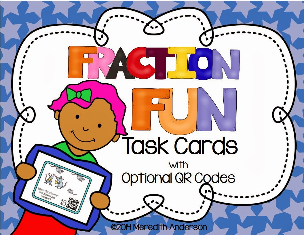 http://www.teacherspayteachers.com/Product/Fraction-Fun-Task-Cards-3rd-Grade-Common-Core-Optional-QR-Codes-1055465