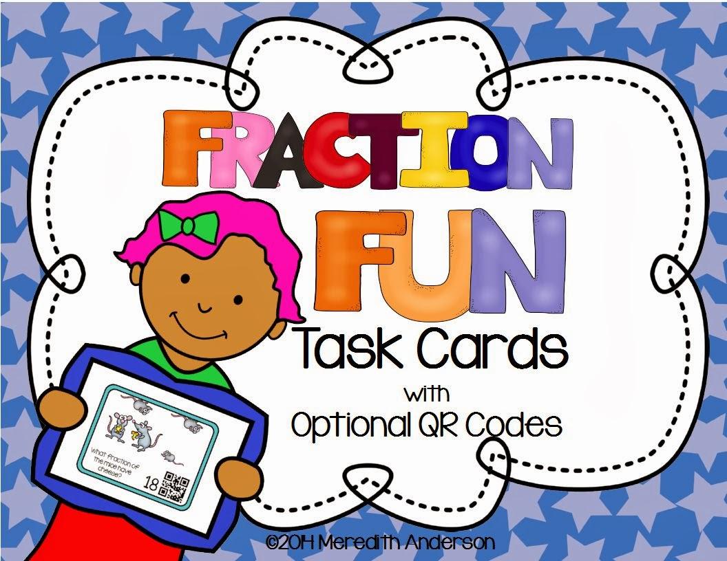 http://www.teacherspayteachers.com/Product/Fraction-Fun-Task-Cards-3rd-Grade-Common-Core-Optional-QR-Codes-1055465