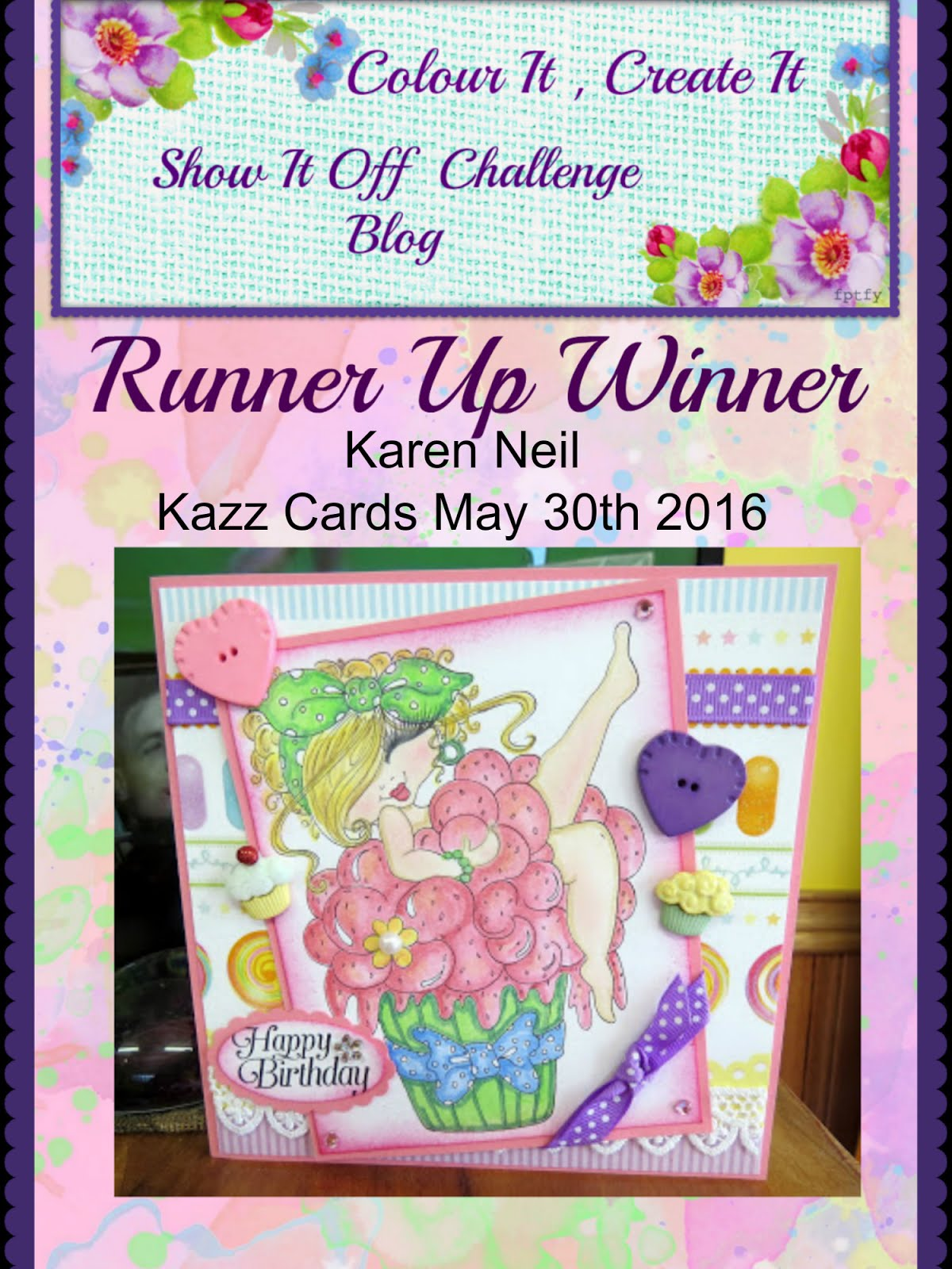 Runner Up May 30th 2016